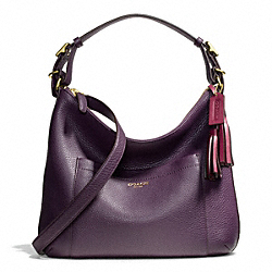 COACH PEBBLED LEATHER HOBO - ONE COLOR - F25348