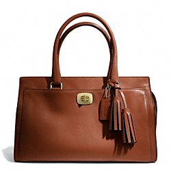COACH LEATHER CHELSEA CARRYALL - BRASS/COGNAC - F25359