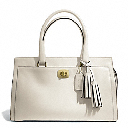 COACH LEATHER CHELSEA CARRYALL - BRASS/WHITE - F25359