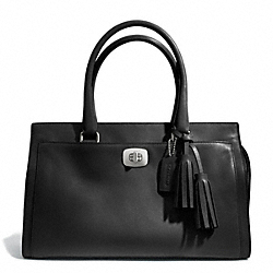 LEATHER CHELSEA CARRYALL - SILVER/BLACK - COACH F25359