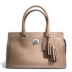 COACH LEATHER CHELSEA CARRYALL - SILVER/LIGHT KHAKI - F25359