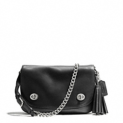 COACH DOUBLE GUSSET FLAP - SILVER/BLACK - F25361
