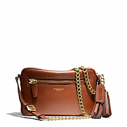 COACH LEATHER FLIGHT BAG - BRASS/COGNAC - F25362