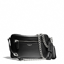 COACH LEATHER FLIGHT BAG - SILVER/BLACK - F25362