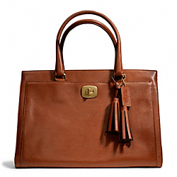 COACH LEATHER LARGE CHELSEA CARRYALL - BRASS/COGNAC - F25365