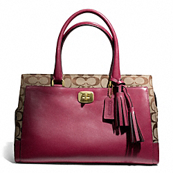 COACH CHELSEA SIGNATURE CARRYALL - ONE COLOR - F25371