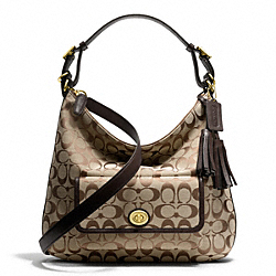 COACH SIGNATURE COURTENAY HOBO - ONE COLOR - F25372
