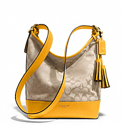 COACH SIGNATURE DUFFLE - BRASS/LIGHT KHAKI/MARIGOLD - F25380