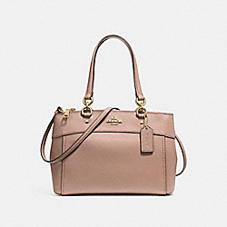 COACH MINI BROOKE CARRYALL - LIGHT GOLD/NUDE PINK - F25395