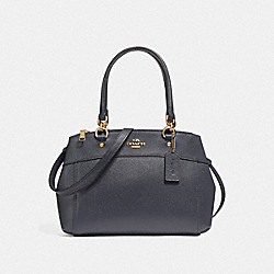MINI BROOKE CARRYALL - MIDNIGHT/IMITATION GOLD - COACH F25395
