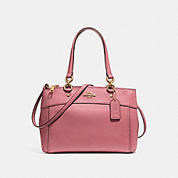 MINI BROOKE CARRYALL - VINTAGE PINK/IMITATION GOLD - COACH F25395