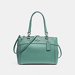 COACH MINI BROOKE CARRYALL - SILVER/AQUAMARINE - F25395