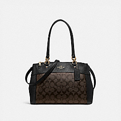 BROOKE CARRYALL IN SIGNATURE CANVAS - BROWN/BLACK/LIGHT GOLD - COACH F25396