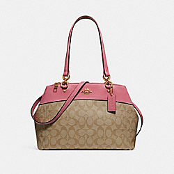 BROOKE CARRYALL IN SIGNATURE CANVAS - LIGHT KHAKI/PEONY/LIGHT GOLD - COACH F25396