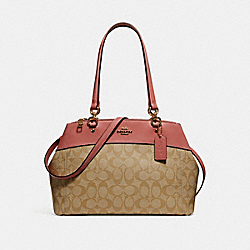 BROOKE CARRYALL - LIGHT KHAKI/VINTAGE PINK/IMITATION GOLD - COACH F25396
