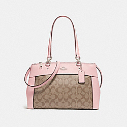 COACH BROOKE CARRYALL IN SIGNATURE CANVAS - KHAKI/BLUSH 2/SILVER - F25396