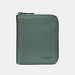 SMALL ZIP AROUND WALLET - AGATE - COACH F25412