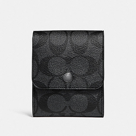 COACH GROOMING KIT IN SIGNATURE CANVAS - CHARCOAL/BLACK - f25433