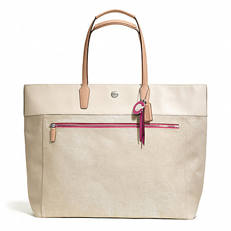 COACH f25460 RESORT CANVAS LARGE TOTE
