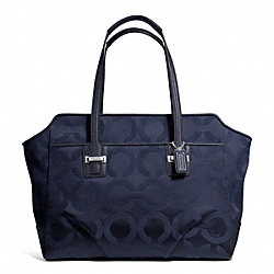 COACH TAYLOR OP ART ALEXIS CARRYALL - SILVER/MIDNIGHT - F25501