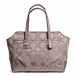 COACH TAYLOR OP ART ALEXIS CARRYALL - SILVER/PUTTY - F25501