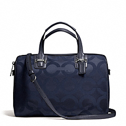 COACH TAYLOR OP ART SATCHEL - SILVER/MIDNIGHT - F25503