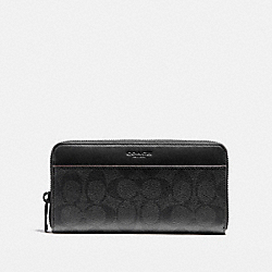 COACH ACCORDION WALLET - BLACK/BLACK/OXBLOOD - F25517