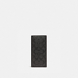 COACH BREAST POCKET WALLET - BLACK/BLACK/OXBLOOD - F25518