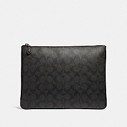 LARGE POUCH - BLACK/BLACK/OXBLOOD - COACH F25520