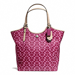 COACH PEYTON DREAM C TOTE - SILVER/BORDEAUX/TAN - F25522