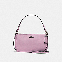 COACH TOP HANDLE POUCH - SILVER/LILAC - F25591