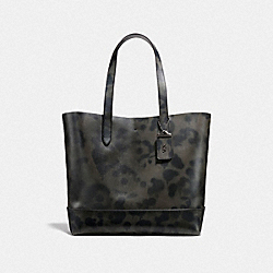 GOTHAM TOTE WITH WILD BEAST PRINT - CHARCOAL/BLACK COPPER FINISH - COACH F25592