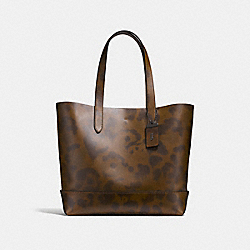 GOTHAM TOTE WITH WILD BEAST PRINT - SURPLUS/BLACK COPPER FINISH - COACH F25592