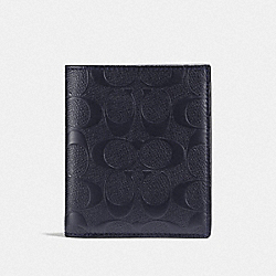 SLIM COIN WALLET IN SIGNATURE LEATHER - MIDNIGHT - COACH F25603