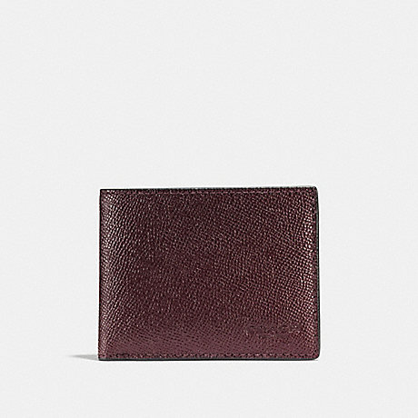 COACH SLIM BILLFOLD WALLET - OXBLOOD - F25606