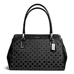 COACH MADISON OP ART SATEEN KIMBERLY CARRYALL - SILVER/BLACK/BLACK - F25624