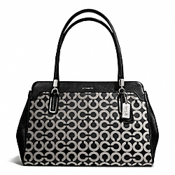 COACH MADISON KIMBERLY CARRYALL IN OP ART SATEEN FABRIC - ONE COLOR - F25624