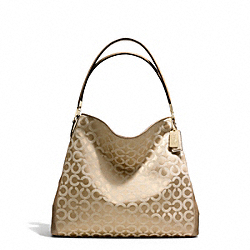 COACH MADISON OP ART SATEEN PHOEBE SHOULDER BAG - ONE COLOR - F25625