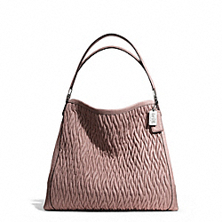 COACH MADISON GATHERED TWIST LEATHER PHOEBE SHOULDER BAG - ONE COLOR - F25627
