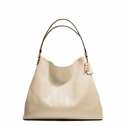 COACH MADISON LEATHER PHOEBE SHOULDER BAG - LIGHT GOLD/MILK - F25635