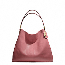 COACH MADISON LEATHER PHOEBE SHOULDER BAG - LIGHT GOLD/ROUGE - F25635