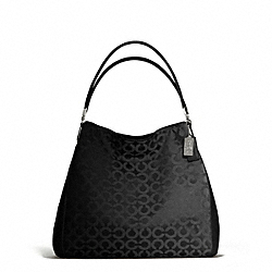 COACH MADISON OP ART SATEEN PHOEBE SHOULDER BAG - ONE COLOR - F25637
