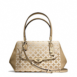 COACH MADISON OP ART SATEEN SMALL MADELINE EAST/WEST SATCHEL - LIGHT GOLD/LIGHT GOLDGHT KHAKI/CHAMPAGNE - F25638