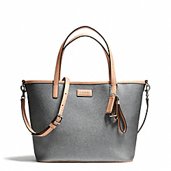 COACH PARK METRO LEATHER SMALL TOTE - SILVER/PEWTER - F25663