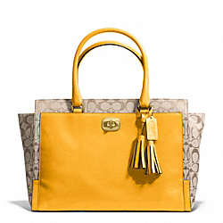 COACH SIGNATURE LARGE CHELSEA CARRYALL - ONE COLOR - F25665