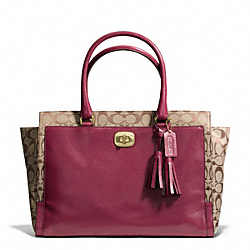 COACH CHELSEA LARGE CARRYALL IN SIGNATURE LEATHER - ONE COLOR - F25665