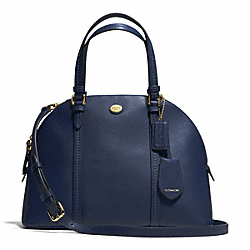 COACH PEYTON LEATHER CORA DOMED SATCHEL - INK BLUE - F25671