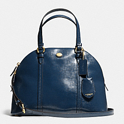 COACH PEYTON LEATHER CORA DOMED SATCHEL - IM/NAVY - F25671