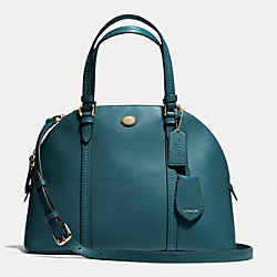 COACH PEYTON LEATHER CORA DOMED SATCHEL - IMPEC - F25671