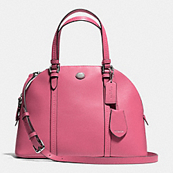 COACH PEYTON LEATHER CORA DOMED SATCHEL - SILVER/ROSE - F25671
